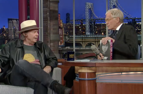 Neil Young on Letterman