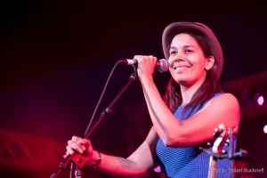 Rhiannon Giddens plays at Bluesfest 2016