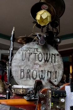 Uptown Brown and his one man band gizmo